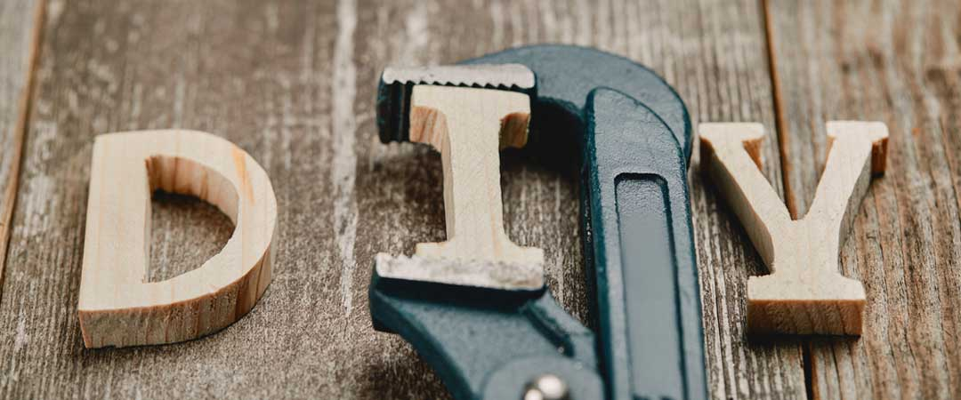 DIY with pipe wrench